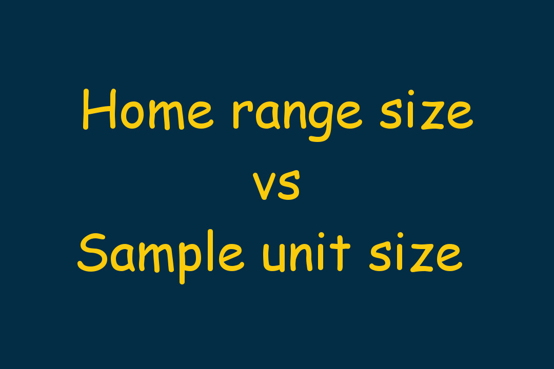 Occupancy modelling - home range vs grid cell size